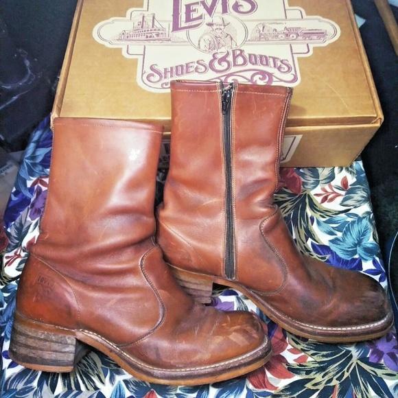 4c53ac4d195 Vintage Levis Boots Zippers Men's 8.5 Phoenix No 1